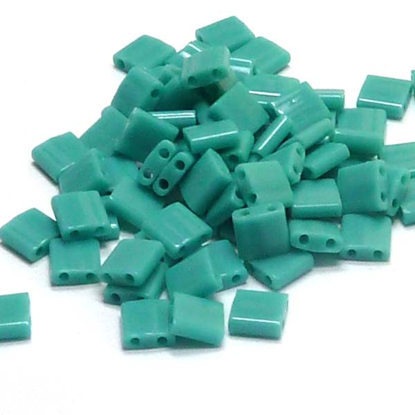"Tila Bead ""HL412"" Opaque Turquoise Green 5*5*1,9 mm 5 gr"