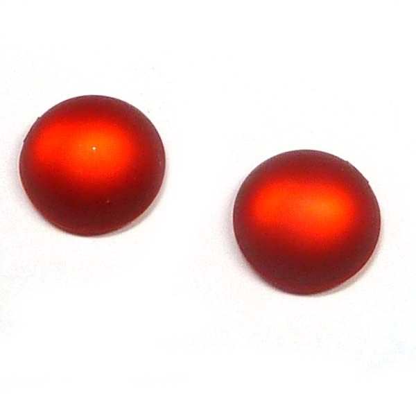 Duna Suede cabochon - Red -  12 mm, 1 st