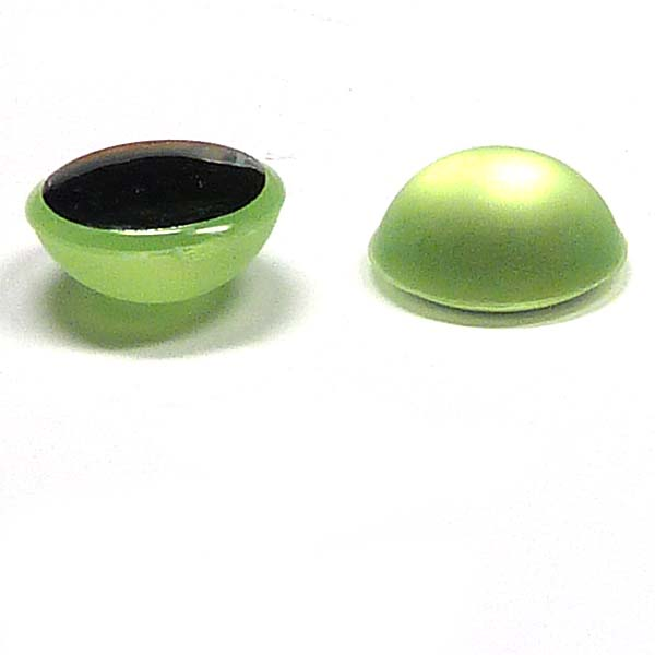 Duna Suede cabochon - Lime -  12 mm, 1 st
