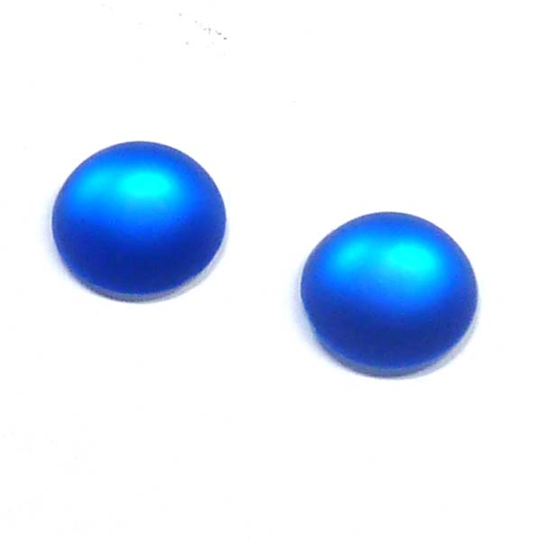 Duna Suede cabochon - Sapphire -  12 mm, 1 st