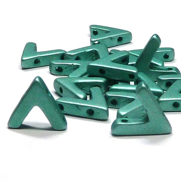 "AVA® bead ""29455"" Metallic Emerald, 10*4 mm, 5 st"