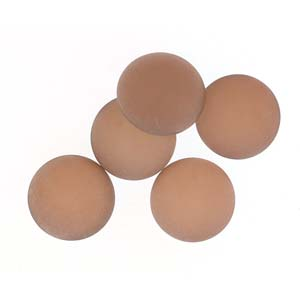 "Cabochon ""00030-27172"" Backlit Matte Peach 18 mm 1 st"
