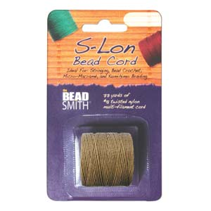 Medium brown Bead/Mac cord superlon, S-lon