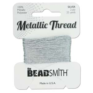 Metallic thread, silverfärgad