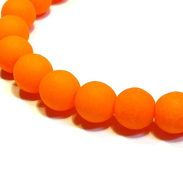 Druks 4 mm - neonorange, 100 st