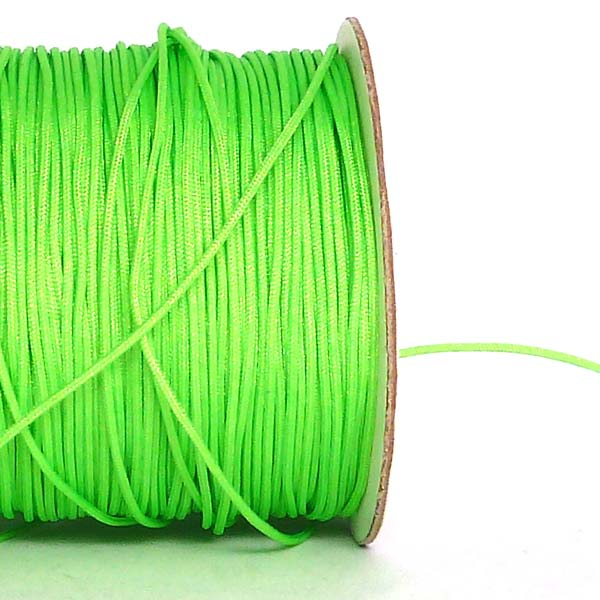 Polyestertr�d - chinese knotting cord - neongr�n 0,8 mm