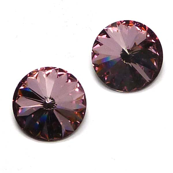 1122 Swarovski rivoli Crystal Antique Pink 14 mm 1 st