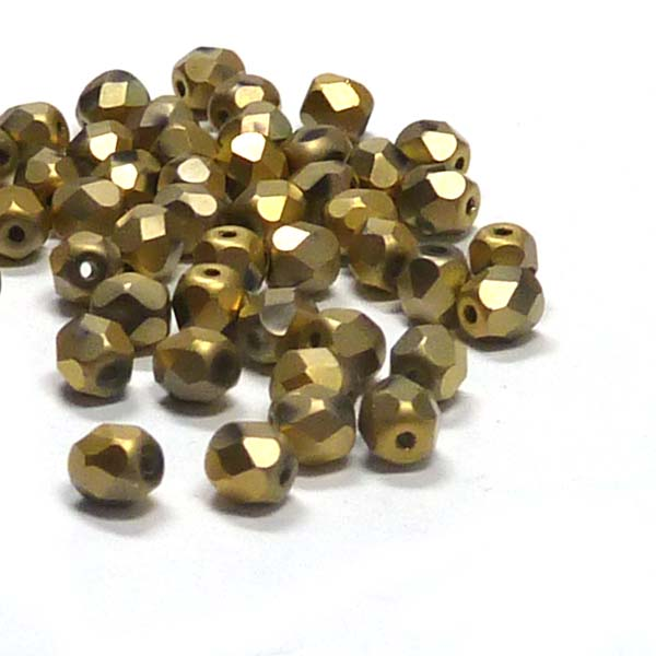 "Crystal Amber Full Matted 200030-26470"" firepolish 4 mm 100 st"