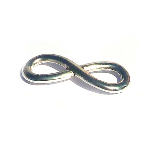 Connector - infinity i antiksilver, 30*12 mm, 3 st