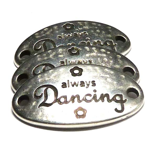 Connector - always dancing, 31*17 mm, antiksilver, 1 st