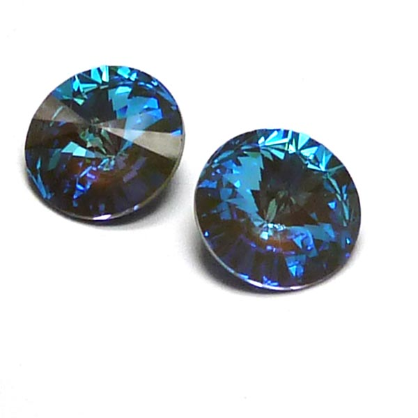 1122 Swarovski Rivoli DeLite Crystal Army Green 12 mm