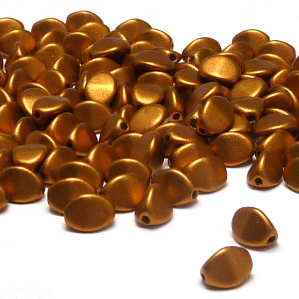 "Pinch beads Brass Gold ""01740"" 5*3 mm, 50 st"