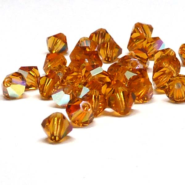 "Topaz AB, MC Machine cut bicone 4 mm ""10070-20001"" 144 st"