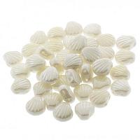 "Shell beads Shelly ""03000-14400"" Chalk White Shimmer 10 st"