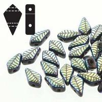 "Kite Bead ""23980-28703LA"" Jet Laser Leaf 2-håls 9*5 mm 5 gr"