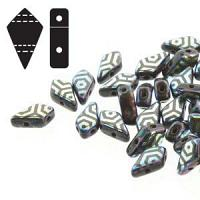 "Kite Bead ""23980-28703WB"" Jet Laser Web 2-håls 9*5 mm 5 g"