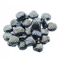 "Shell beads Shelly ""23980-23500"" Jet Blue Sphinx Metallic 10 st"