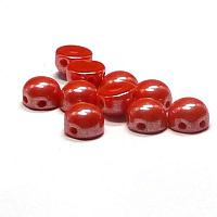 "2-hole cabochon ""93180-14400"" Opaque Red Shimmerr 6 mm 10 st"
