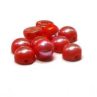 "2-hole cabochon ""93180-28303"" Opaque Red Full Light AB 6 mm 10 s"