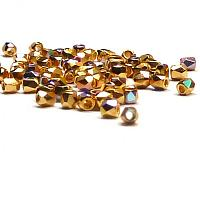 "True 2 mm firepolish Crystal Gold plated AB 24 carat ""00030-GPAB"