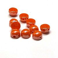 "2-hole cabochon ""93120-14400"" Opaque Hyacint Shimmer 6 mm 10 st"