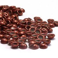 "Teacup Bead ""06B02"" Saturated Metallic Valiant Poppy 4*2,5 mm 5"