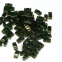 "Half Tila Bead ""HTL306"" Olive Green Gold Luster, 5*2,5*1,9 mm 5"