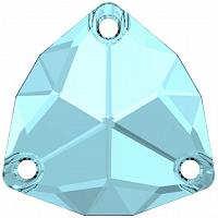 "3272 Swarovski Sew-On Trilliant ""Aquamarine"" 20 mm"