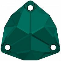 "3272 Swarovski Sew-On Trilliant ""Emerald"" 20 mm"