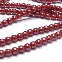 "Pearl Shell ""30005"" Cranberry rund druks 3 mm 150 st"