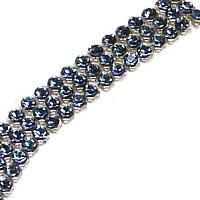 "40601 Swarovski Crystal Minimesh ""Blue Denim"" PP9 ca 1,5 mm, 9 s"