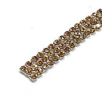 "40601 Swarovski Crystal Minimesh ""Crystal Golden Shadow"" PP9 ca  1"