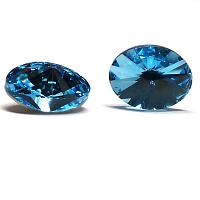 4122 Swarovski Oval Rivoli Fancy Stone Aquamarine 14*10,5 mm