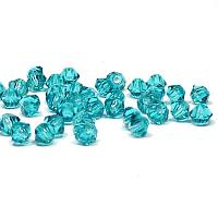 Blue Zircon M.C. machine cut bicone 3 mm 36 st