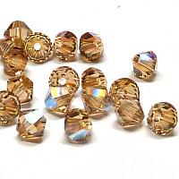 5328 Swarovski Xilion bicone Light Colorado Topaz Shimmer 4 mm,
