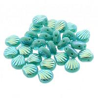 "Shell beads Shelly ""63130-28300"" Green Turquoise ABx2 10 st"