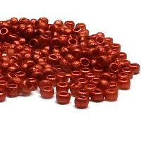 "Tjeckisk seedbead 8/0 ""01890E"" Etched Lava Red, 10"