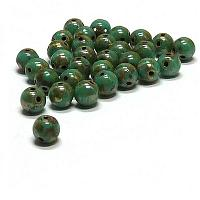 "RounDuo® bead - Jade Picasso ""63130-43400"" 2-håls 5 mm 75 st"