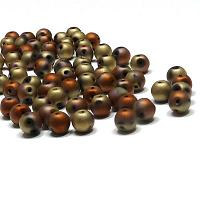 "RounDuo® bead - Jet California Gold Rush Matted ""23980-98572"" 2-"