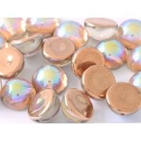 "Dome Beads ""00030-98533"" Crystal Copper Rainbow 14*8 mm, 5 st"