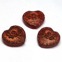 "Folklore Heart ""Red Bronze"" 17*17 mm 1 st"