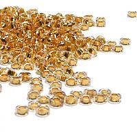 "Miyuki Spacer Bead ""195"" 24 Karat Goldlined Crystal 2,2*1 mm 5 g"