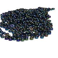 "Miyuki Spacer Bead ""455"" Metallic Variegated Blue Iris 2,2*1 mm"