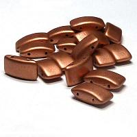 "Carrier Bead ""01770"" Vintage Copper, 2-hålspärla 9*17 mm 15 st"