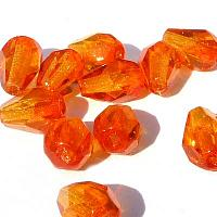 Fire opal facetterad droppe 7*5 mm, 20 st