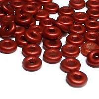 "O-bead ®, Chalk White Lava Red ""01890"", ca 4*2 mm, 5 gr"