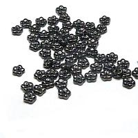 "Forget-me-not bead ""23980-14400"" Jet Hematite, 5 mm, 50 st"