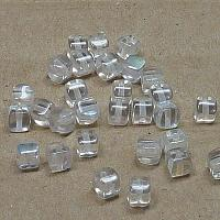 "Glass Cubes Crystal AB  ""00030-28701"" 4 mm 100 st"
