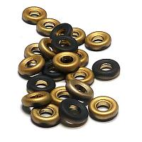 "Glassrings Jet Amber Matted ""23980-26471"" 9 mm 25 st"