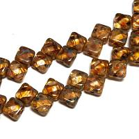 "Silky Bead Crystal Picasso ""00030-86800"" 2-håls 6 mm 40 st"